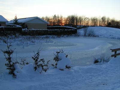 Søen i vinterdragt